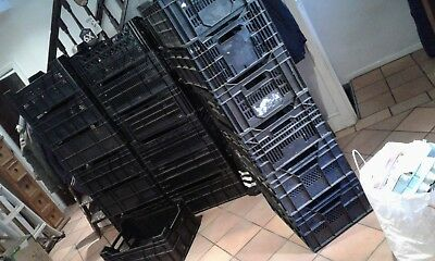 19 large storage crates job lot car boot market less if required. not re-listing
