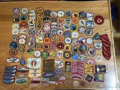 Large Lot Of Boyscout Patches,council,flaps From The 1950's-70's