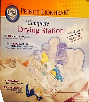 Prince lion heart bottle. Drying station