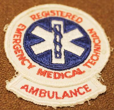 Vintage Registered Emergency Medical Technician Ambulance Gauze Back Patch 6100