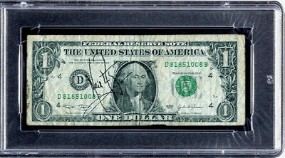 Neil Armstrong Apollo 11 Original Signed One Dollar Autograph Autogramm Signiert