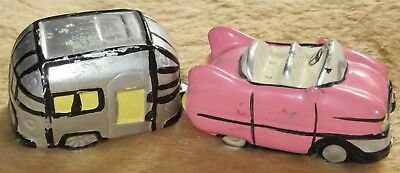Pink Cadillac with Airstream Camper Salt & Pepper Shaker Set