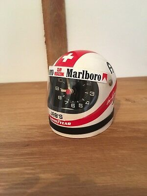 Vintage Heuer Helmet Clock - very rare Clay Regazzoni model. Early 1970's