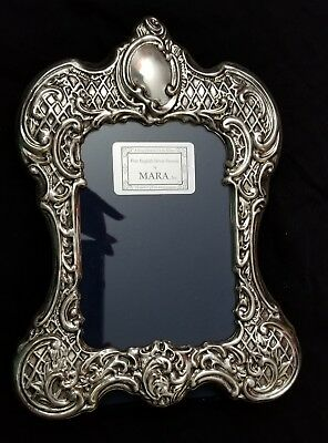 Mara, Inc Hallmarked English Sterling Silver Picture Frame 9x6