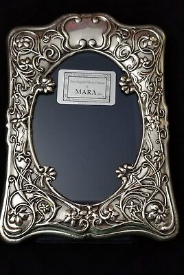 Mara, Inc Hallmarked English Sterling Silver Picture Frame 8x5