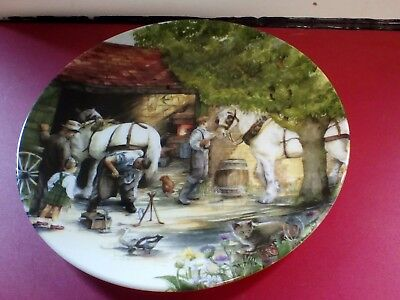Royal Doulton The Blacksmith Series Entitled Old Country Crafts Collectors Plate