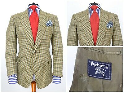Mens Burberry Vintage Blazer Jacket Check Plaid Multicoloured Size 26 / UK42