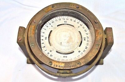 US Navy 1942 Mark 1 BU Ships Compass Lionel Corporation, 4 Inch WW2.