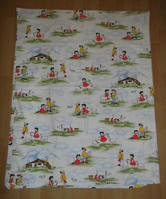 Heidi Peter Kinder Bettwäsche 100x135 80er Vintage Stoff Fabric