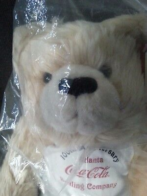 New in Package Coca Cola 100th Anniversary Plush Bear with COA