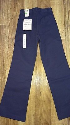 Nwt Becky Thatcher Girls Navy Blue School Uniform Pants Size 12 Slim