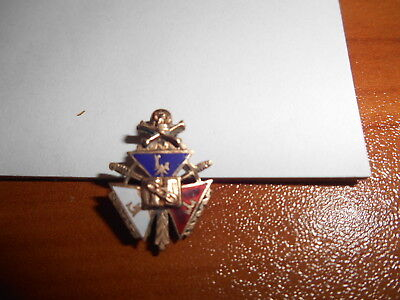 Vtg 10k Gold Odd Fellows Skull Crossbones FLT Enamel Fraternal Lapel Pin Brooch