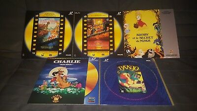 Rare! Collection Laserdisc Don Bluth Pal Vf (Fievel, Banjo, Brisby, Charlie...)