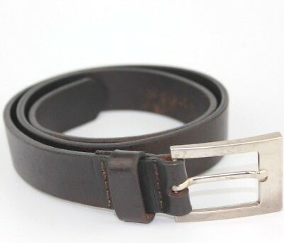 Salsa Vintage thick Real Leather Belt Retro Size 85cm Brown Fit 29-31 inch waist