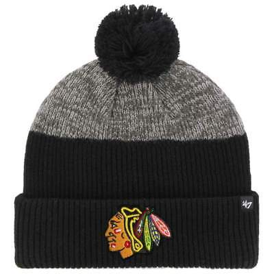 Chicago Blackhawks '47 NHL Backdrop Cuff Knit Beanie - Black
