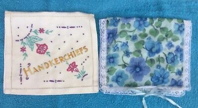 2 Vintage Handkerchief Cases