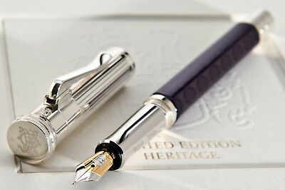 GRAF VON FABER CASTEL LIMITED EDITION HERITAGE FOUNTAIN PEN, Sterling Silver