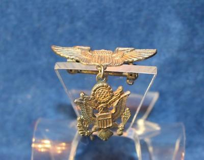 Wwii Us Army Air Force Sterling  Dangle Sweetheart Pin   6618