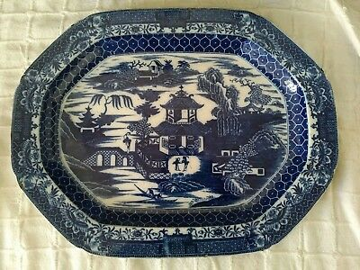 18th/19th Century Large Chinese Blue And White Plate