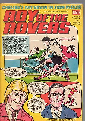 (-0-) Roy Of The Rovers Comic 21St July 1984 With Star Wars  Advert Figures