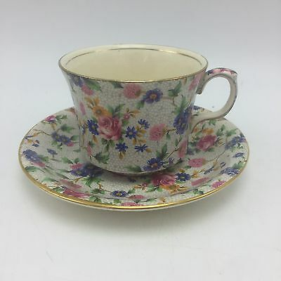 Royal Winton Old Cottage Chintz 1930's 40's Cup Saucer England