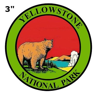 """Yellowstone PATCH National Park Wyoming 3"""" Iron-On Embroidered Nature Outdoors"""