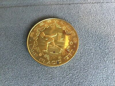 China 1980 Winter Olympic Figure Skating  1Yuan Proof Brass Coin RARE
