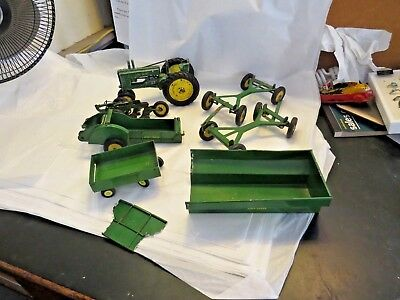 7  Pc Vintage John Deere Farm Implements Tractor Manure Spreader Plow Etc