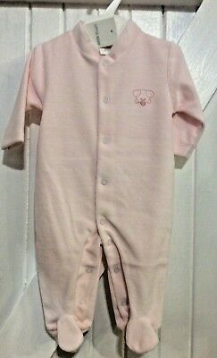 Baby Girl 3-6 Months NEW Spanish Design Little Pink  Babygrow Velour embroidery