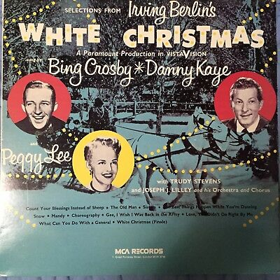 White Christmas Bing Crosby Peggy Lee Danny Kaye Musical Film Record Near Mint