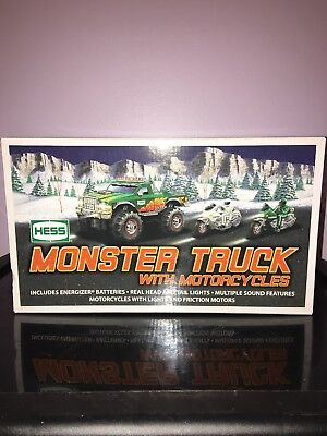 2007 Hess Monster Truck With Motor Cycles!!  (Brand New) Mint Condition!!!