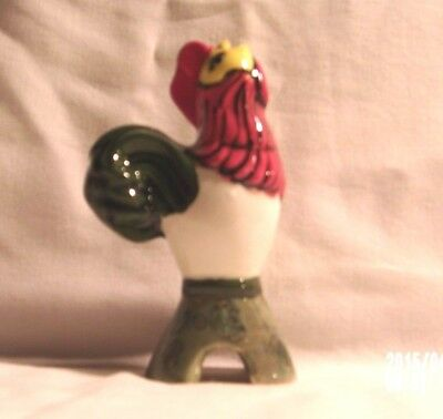 Chicken H822 -03.922 Ceramic Red / White / Green   Rooster Pie Bird