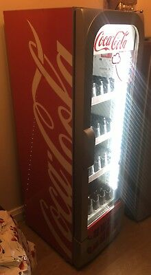 Coca Cola Stand-up Drinks Display Fridge With L.E.D *FULLY WORKING* Coke Cooler
