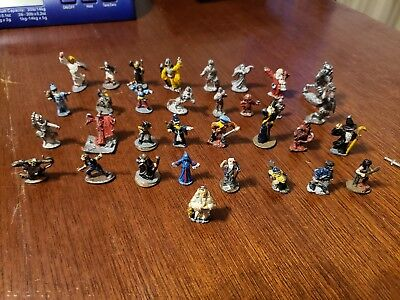 Lot of 33 Random Metal Miniatures Dungeons & Dragons Role Playing Games