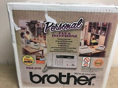 Brother FAX-275 Personal Fax Machine w/ 16-Digit LCD Display Brand New