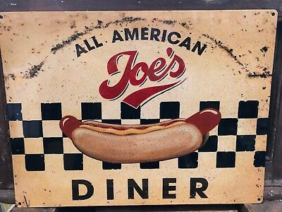 Joe's Diner Retro Sign