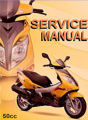 Chinese Scooter 50cc GY6 Service Repair Shop Manual on CD JM Star Hitong Kasea