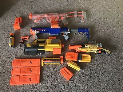 Nerf Gun Lot Of Various Guns And Accessories.  All Tested