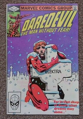 Daredevil #182 Frank Miller Elektra Marvel Comics May 1982