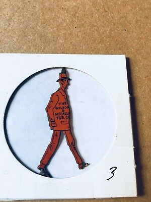 vintage The Wilson & MaCallay Tob. Co. tobacco tag  showing man in a hat