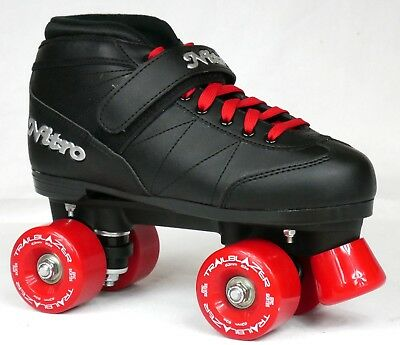 NEW CUSTOM Epic Super Nitro CHERRY COLA Black & Red Outdoor Quad Roller Skates