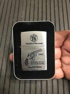 ZIPPO 1880 SMITH & WESSON LIMITED EDITION 38 Double Action First Da Revolver NEW
