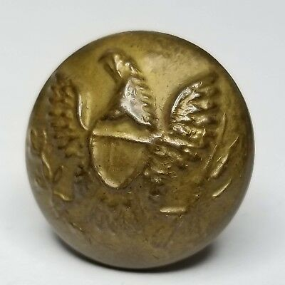 Civil War button Union military uniform eagle button w/ plain brass back