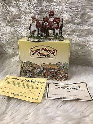 David Winter Cottages The Schoolhouse, 1987 In Box, COA
