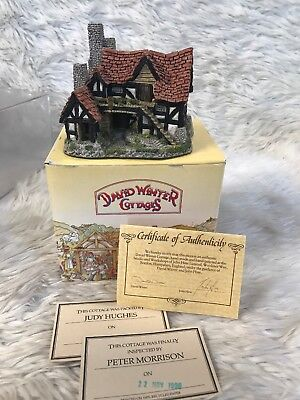 Vintage 1983 THE BOTHY David Winter Cottages BOX & COA Retired MIB