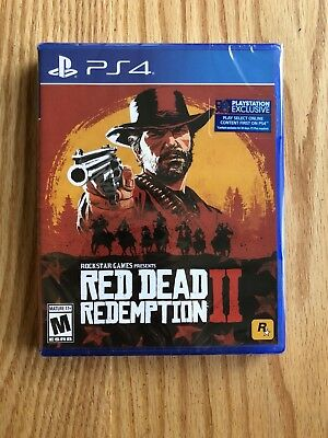 Red Dead Redemption II 2 with Pre-Order Bonus PlayStation 4 Ps4 Pro BRAND NEW