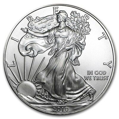 Roll of 20 - 2010 Silver American Eagle (1 oz) $1 Coins in Mint Tube (#23)