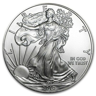 Roll of 20 - 2010 Silver American Eagle (1 oz) $1 Coins in Mint Tube (#25)