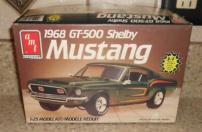 AMT Ertl 1968 GT-500 SHELBY MUSTANG Model Car Kit #6541 1/25 NOT YET STARTED