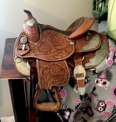 """Youth Silver Royal Western Show Saddle 13"""""""
